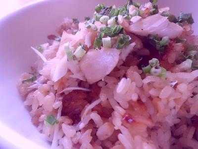 新生姜とスズキの炊き込みご飯♪