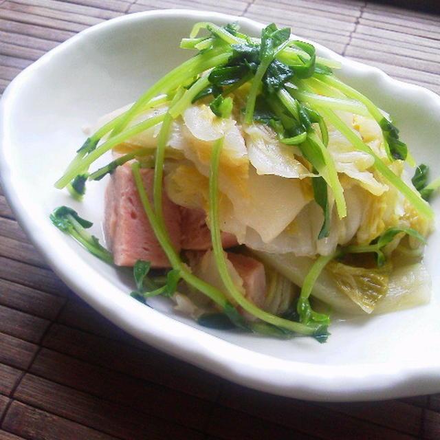 スパムと白菜のくたっと煮(常備菜)