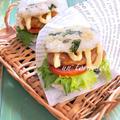 ピクニックのお弁当に♪カルシウムたっぷりの☆じゃこライスバーガー〜鶏テリマヨ〜♡レシピ