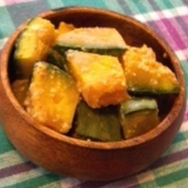 【レシピ】ノンオイル!かぼちゃの豆乳ごまドレサラダ