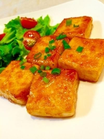 ピックアップで紹介していただきました*簡単節約♪うちのガリバタ豆腐ステーキ