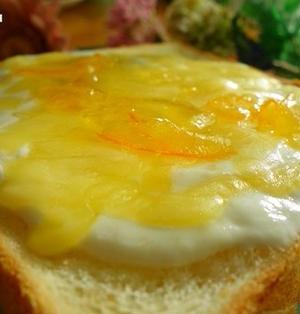 チーズケーキトースト☆ヨーグルトで作る方法