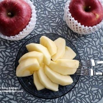 福島県の大きなりんご♪ 朝ご飯とオイル活の成果★
