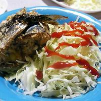 秋刀魚のチーズ巻き焼き