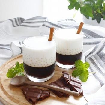 火を使わない大人のタピオカコーヒーゼリー (レシピあり)