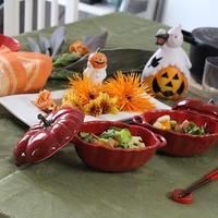 ハロウィンを楽しむ♪フラワーテーブル*パクチー入り♪シナモンかぼちゃと蓮根の秋のホットサラダ☆