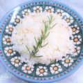 食べるアロマテラピー?!炊飯器、開始の前に入れるだけ。『ローズマリーライス』。