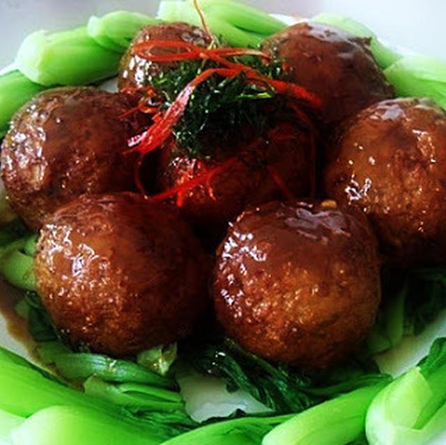豆腐獅子頭│豆腐団子の中華風煮込み
