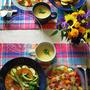 基本のカレーに夏野菜をトッピング。秋の虫。