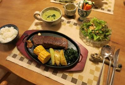 「USAビーフ 肩ロースステーキ」byコストコ の晩ご飯 と 夏模様あれこれ♪