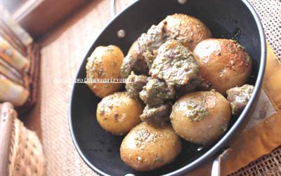 砂肝バジル 《包丁を使わない料理》