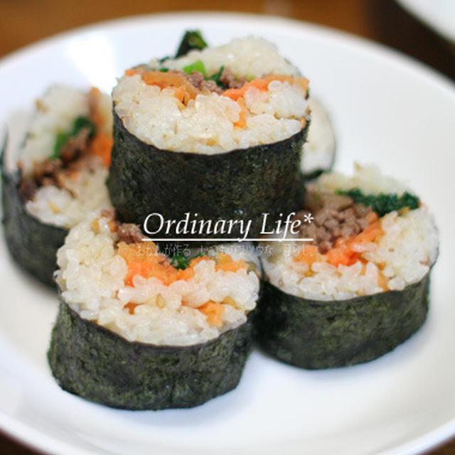 巻き寿司作りに挑戦☆彡