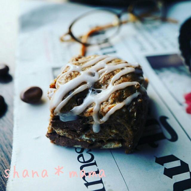 珈琲味のお菓子色々❤とほろ苦大人味♪HMであっという間にカフェモカスコーン♪