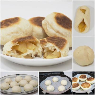 [ご感想]秋りんごたっぷり!フライパンで作れる♡カラメルりんごミルクパン