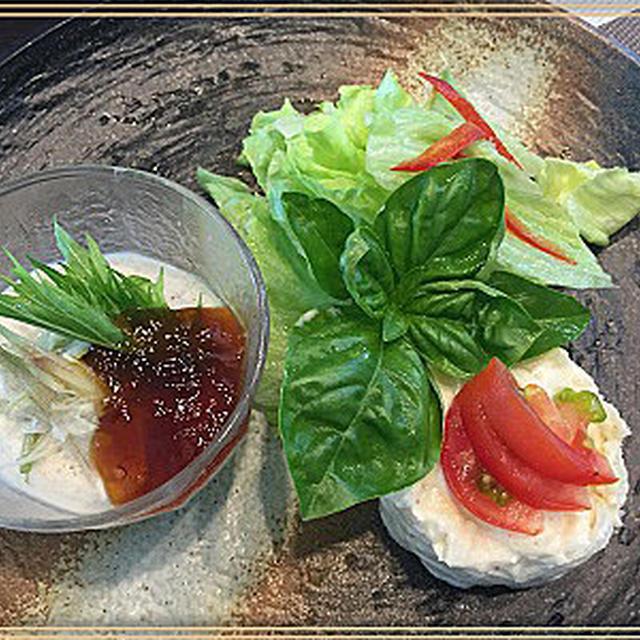 簡単胡麻豆腐もどきでワンプレートサラダ~♪