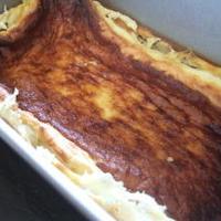 小岩井のヨーグルトでチーズケーキ。