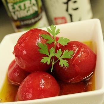 オリーブ香る冷やしだしトマト