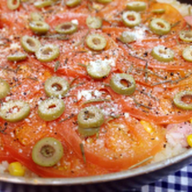 トマトとローズマリーのパエリア