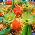 「穴子と春キュウリの散らし寿司」