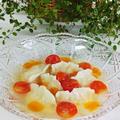 レシピ*冷製エビの水餃子トマトスープあんかけ*餃子の皮の作り方工程写真付き