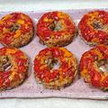 冷蔵庫で眠る冷飯で焦がし醤油チャーハン(ダイソーのドーナツ型)