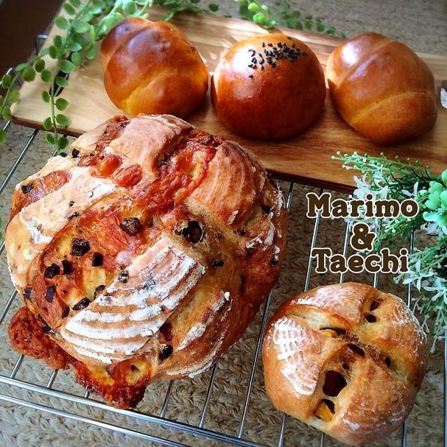【カンパ祭り】ドライトマトとゴーダチーズカンパーニュ