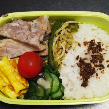 9月1日☆今日のお弁当は、豚肉のクレソル焼き弁当