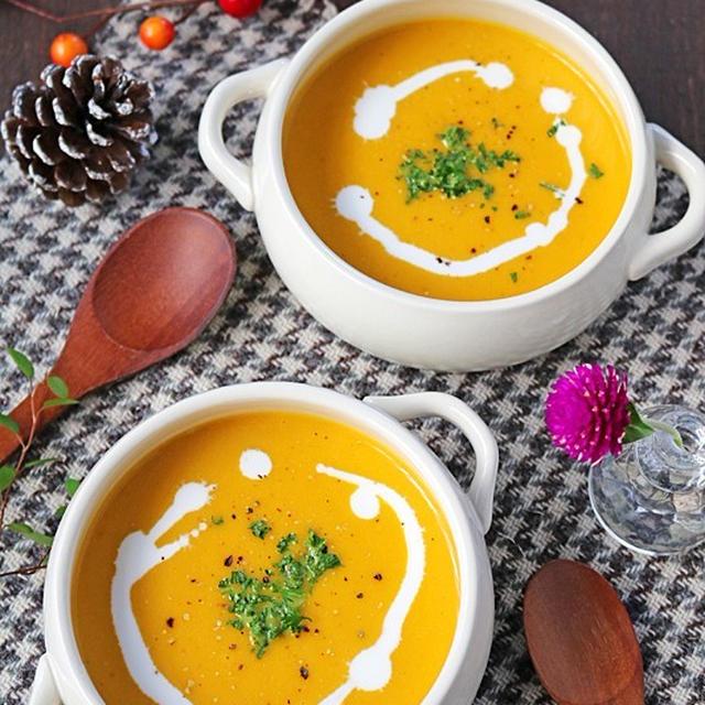 カレー粉が隠し味♪子供が喜ぶかぼちゃのカレーポタージュ