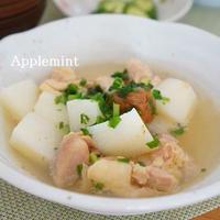 鶏肉と長芋と梅干しの白だしさっと煮