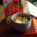 豚バラキムチの春野菜みそ汁