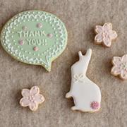 アイシングクッキー(うさぎと桜と吹き出し編)