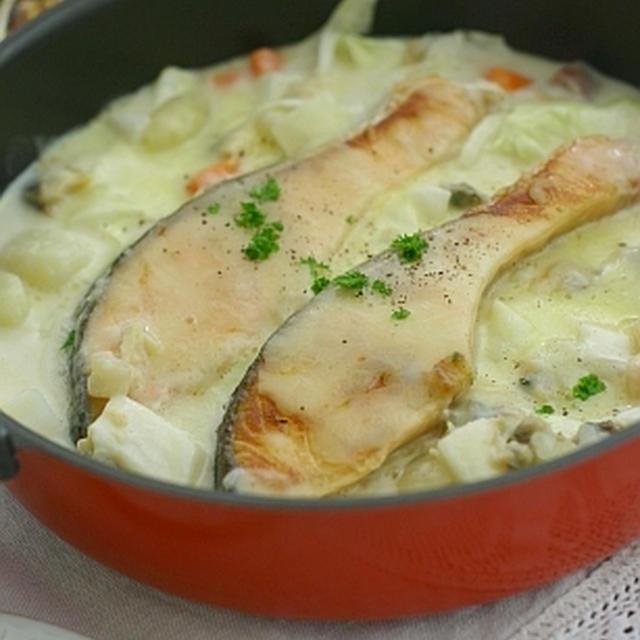 鮭のチーズ焼き レンジでマルチパン使用