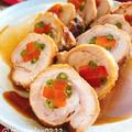 鶏もも肉の人参いんげん巻き【チキンロール】(動画レシピ)