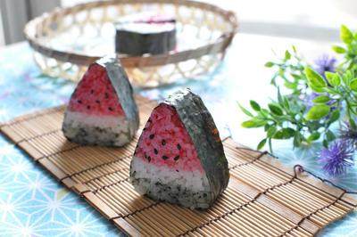 スイカの飾り巻き寿司