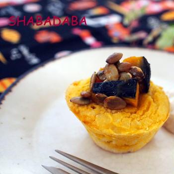 ほっこりおいしいかぼちゃとメープルのマフィン*小麦粉・卵・乳製品・白砂糖不使用*