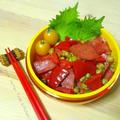 豆入りカレー炒め丼のお弁当。 by yayaさん