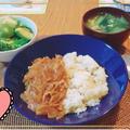 ルーなしハヤシライス#鯖缶炊き込みご飯#長男