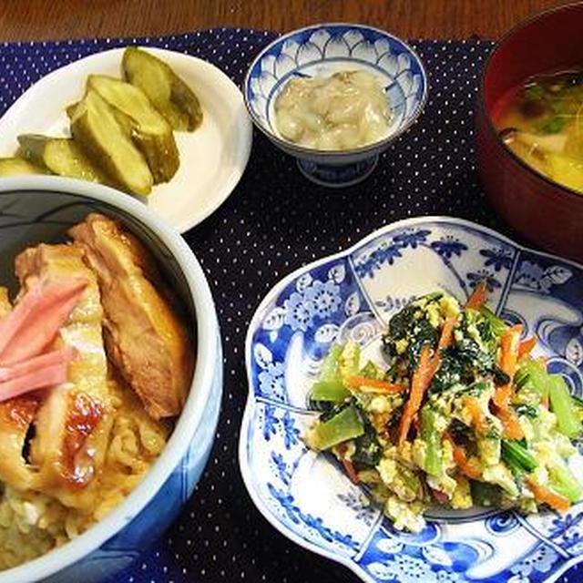 小松菜と卵の炒め物&今夜、京セラドーム大阪で・・・