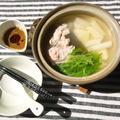 辛胡麻タレと水菜で、しゃぶしゃぶ