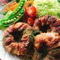 花椒塩風味の肉巻きオニオン。
