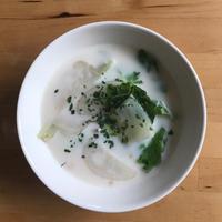 【レシピブログ】かぶのミルクスープ × 山梨の甲州