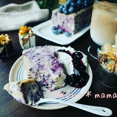 久々に今日のにゃんこ~❤と超絶濃厚しっとりたまら~ん♪ブルーベリーチーズケーキテリーヌ