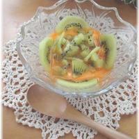 充実野菜deキウイとヨーグルトのパフェ風♪