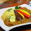挽肉で簡単キーマカレー♬夏野菜カレー♡節約にも