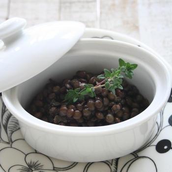 レンズ豆のハーブ煮