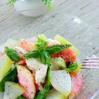 冬瓜と桃のレモンサラダ モニターレシピ♫
