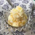 【冷たいお菓子】混ぜて凍らせるだけ☆桃のヨーグルトシャーベット