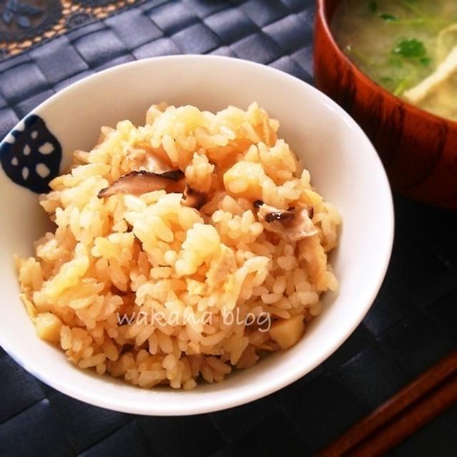 ホタテと椎茸の炊き込みごはん☆と桜