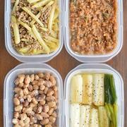 今週は「副菜のみ4品」の作りおき&簡単にできるもんで、何とかしのいだよーていう話。