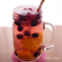 すぐに冷えるマンゴーとミックスベリーの即♪簡単フルーツビネガーウォーター☆「かんたん・鮮やか・おいしいフルーツビネガーウォーターコンテスト」レシピ